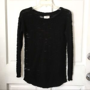 Lou & Grey Lightweight Black Sweater